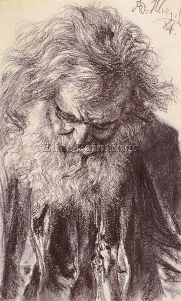 ADOLPH VON MENZEL  FRIEDRICH ERDMANN PORTRAIT OF AN OLD MAN ARTIST PAINTING OIL