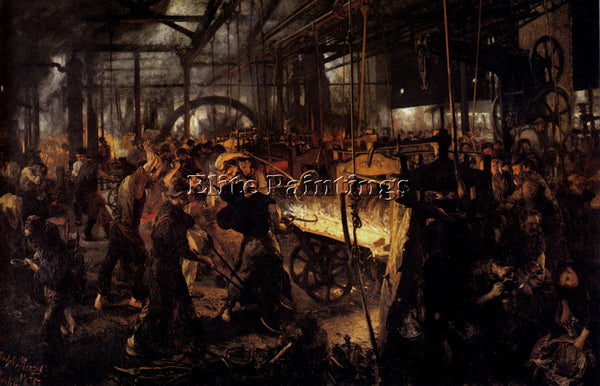 ADOLPH VON MENZEL  VAON THE FOUNDRY ARTIST PAINTING REPRODUCTION HANDMADE OIL