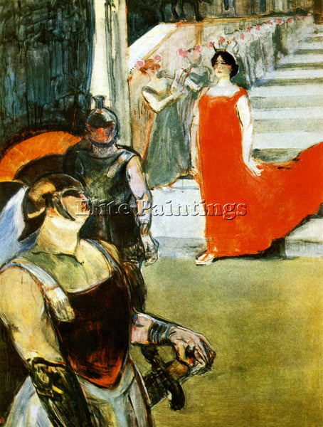 TOULOUSE-LAUTREC MESSALINA DESCENDING ARTIST PAINTING REPRODUCTION HANDMADE OIL