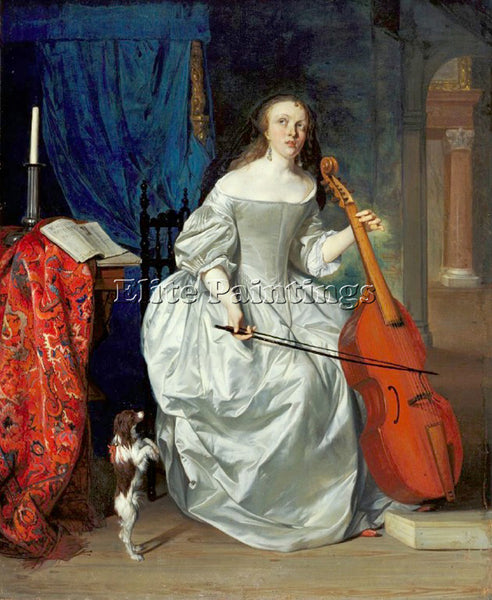 GABRIEL METSU 63VIOLA ARTIST PAINTING REPRODUCTION HANDMADE OIL CANVAS REPRO ART