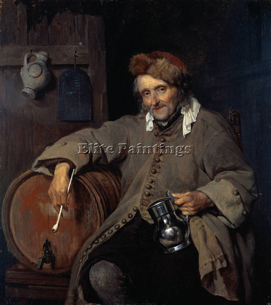 GABRIEL METSU OLD DRINKER ARTIST PAINTING REPRODUCTION HANDMADE OIL CANVAS REPRO