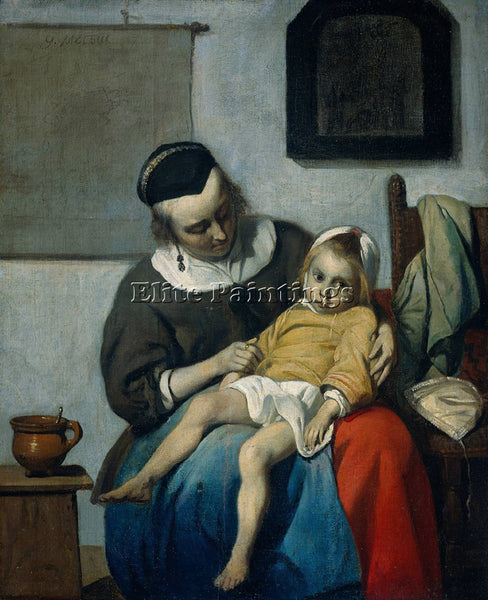 GABRIEL METSU SICK CHILD ARTIST PAINTING REPRODUCTION HANDMADE CANVAS REPRO WALL