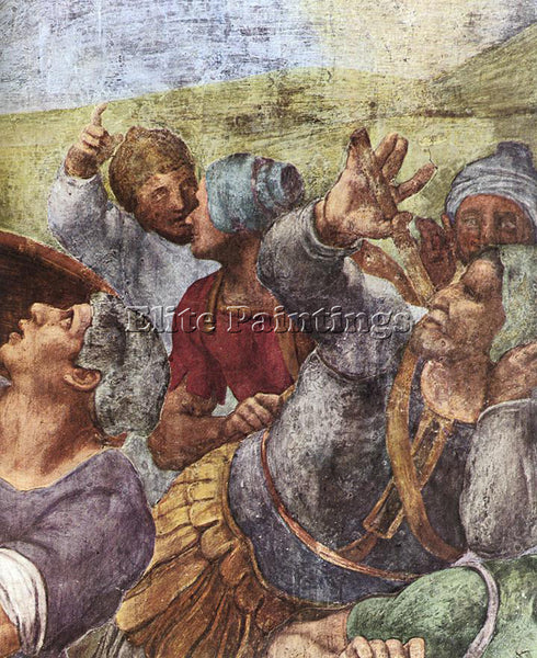 MICHELANGELO THE CONVERSION OF SAUL DETAIL2 ARTIST PAINTING HANDMADE OIL CANVAS