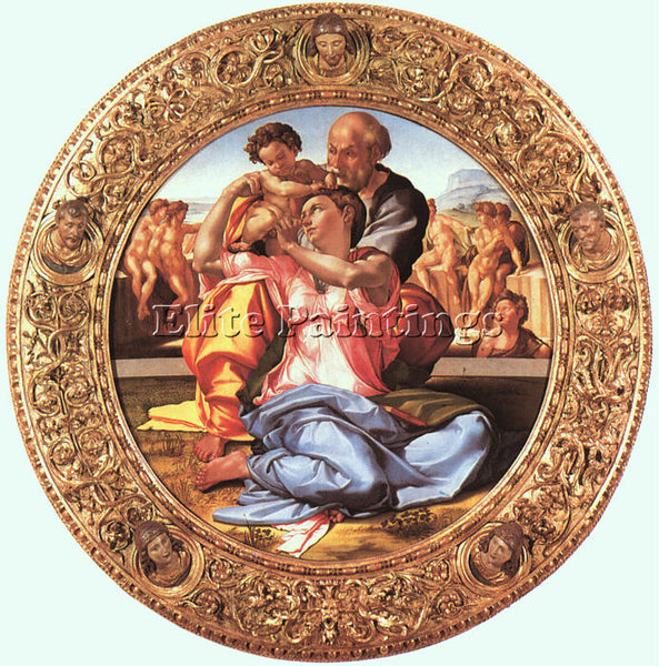 MICHELANGELO 4 ARTIST PAINTING REPRODUCTION HANDMADE OIL CANVAS REPRO WALL  DECO
