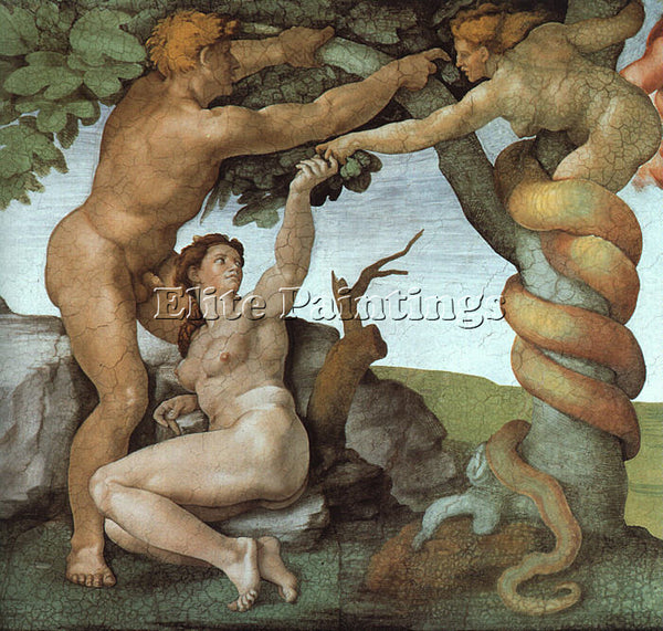 MICHELANGELO 5 ARTIST PAINTING REPRODUCTION HANDMADE OIL CANVAS REPRO WALL  DECO