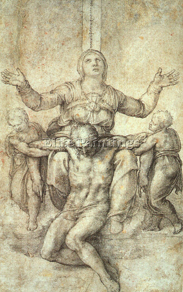 MICHELANGELO MICH18 ARTIST PAINTING REPRODUCTION HANDMADE CANVAS REPRO WALL DECO