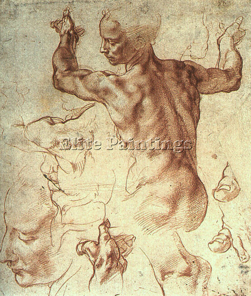 MICHELANGELO MICH19 ARTIST PAINTING REPRODUCTION HANDMADE CANVAS REPRO WALL DECO