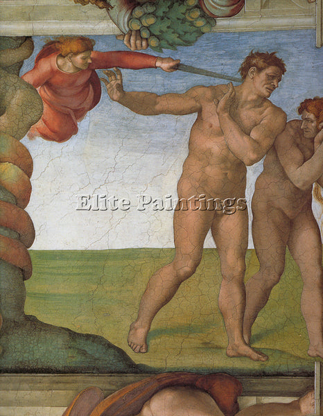 MICHELANGELO  SISTINE CHAPEL CEILING GENESIS FALL AND EXPULSION FROM PARADISE