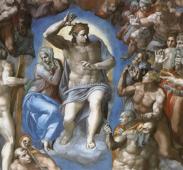 MICHELANGELO  THE LAST JUDGEMENT DETAIL1 ARTIST PAINTING REPRODUCTION HANDMADE