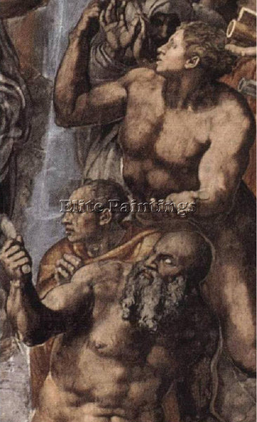 MICHELANGELO  THE LAST JUDGEMENT DETAIL2 ARTIST PAINTING REPRODUCTION HANDMADE