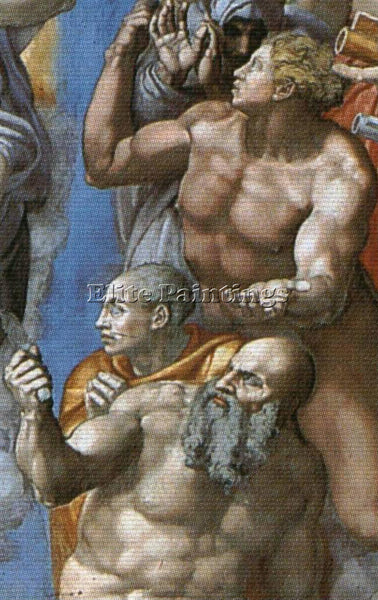 MICHELANGELO  THE LAST JUDGEMENT DETAIL2A ARTIST PAINTING REPRODUCTION HANDMADE