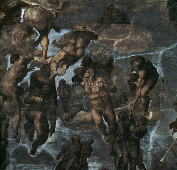 MICHELANGELO  THE LAST JUDGEMENT DETAIL3A ARTIST PAINTING REPRODUCTION HANDMADE