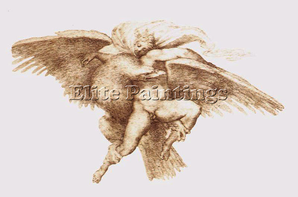 MICHELANGELO  THE RAPE OF GANYMEDE ARTIST PAINTING REPRODUCTION HANDMADE OIL ART