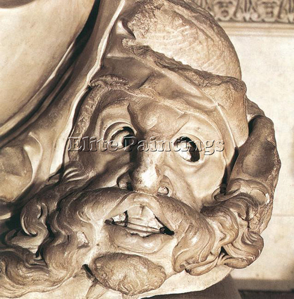 MICHELANGELO  TOMB OF GIULIANO DE MEDICI DETAIL NIGHT DETAIL1 PAINTING HANDMADE