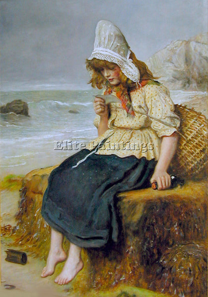 JOHN EVERETT MILLAIS MESSAGE FROM THE SEA ARTIST PAINTING REPRODUCTION HANDMADE