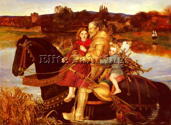 JOHN EVERETT MILLAIS A DREAM OF THE PAST SIR ISUMBRAS AT THE FORD ARTIST CANVAS