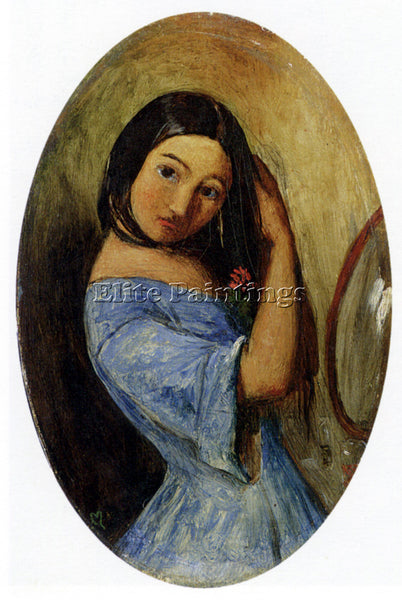 JOHN EVERETT MILLAIS A YOUNG GIRL COMBING HER HAIR ARTIST PAINTING REPRODUCTION