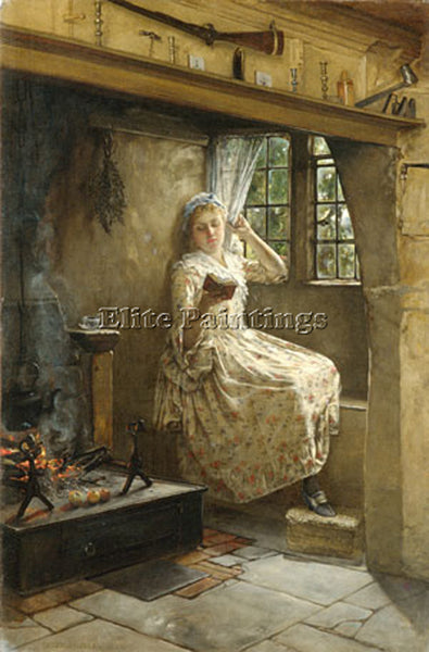 FRANCIS DAVIS MILLET A COSEY CORNER ARTIST PAINTING REPRODUCTION HANDMADE OIL