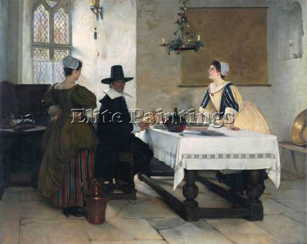FRANCIS DAVIS MILLET BETWEEN TWO FIRES ARTIST PAINTING REPRODUCTION HANDMADE OIL