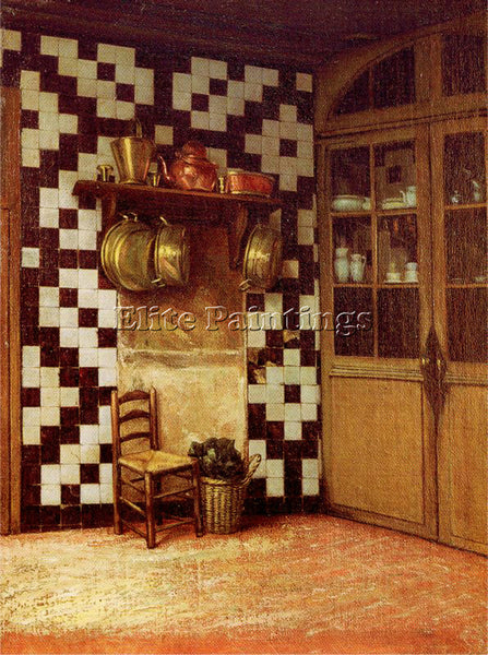 FRANCIS DAVIS MILLET FLEMISH KITCHEN ARTIST PAINTING REPRODUCTION HANDMADE OIL