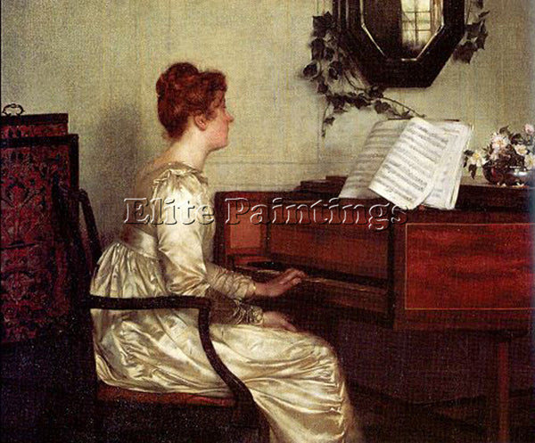 FRANCIS DAVIS MILLET OLD HARMONIES ARTIST PAINTING REPRODUCTION HANDMADE OIL ART