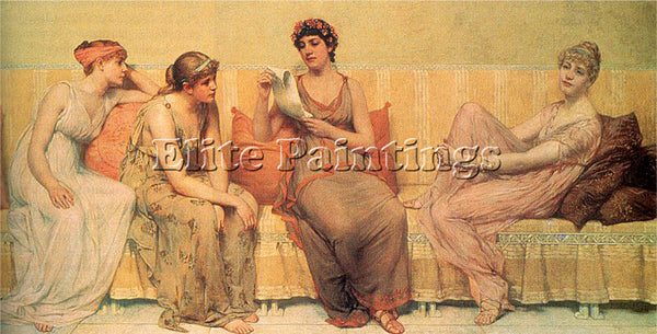 FRANCIS DAVIS MILLET READING THE STORY OF OENONE ARTIST PAINTING HANDMADE CANVAS