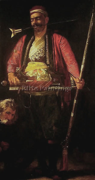 FRANCIS DAVIS MILLET MILLET FRANCIS DAVID THE TURKISH GUARD ARTIST PAINTING OIL