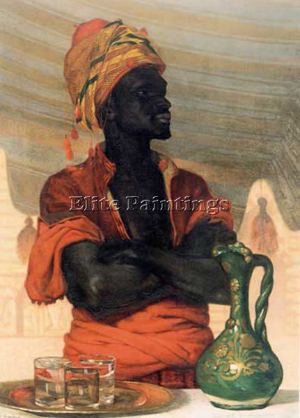 FRANCIS DAVIS MILLET MILLET FRANCIS DAVID TURKISH WATER SELLER PAINTING HANDMADE