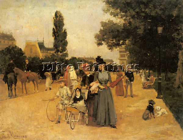 FRANCISCO MIRALLES AVENUE FOCH WITH A VIEW OF THE ARC DE TRIOMPHE ARTIST CANVAS
