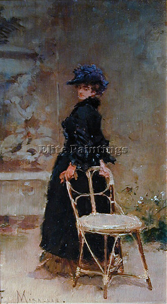 FRANCISCO MIRALLES LADY IN INTERIOR ARTIST PAINTING REPRODUCTION HANDMADE OIL