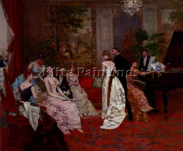 FRANCISCO MIRALLES THE RECITAL ARTIST PAINTING REPRODUCTION HANDMADE OIL CANVAS