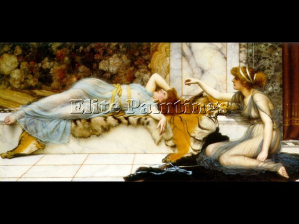 JOHN WILLIAM GODWARD MISCHIEF AND REPOSE 1895 ARTIST PAINTING REPRODUCTION OIL