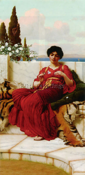 JOHN WILLIAM GODWARD MISCHIEF 1 ARTIST PAINTING REPRODUCTION HANDMADE OIL CANVAS