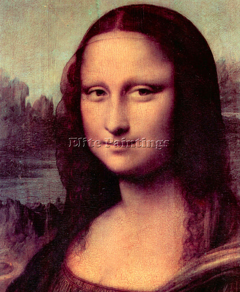 LEONARDO DA VINCI MONA LISA DETAIL  ARTIST PAINTING REPRODUCTION HANDMADE OIL