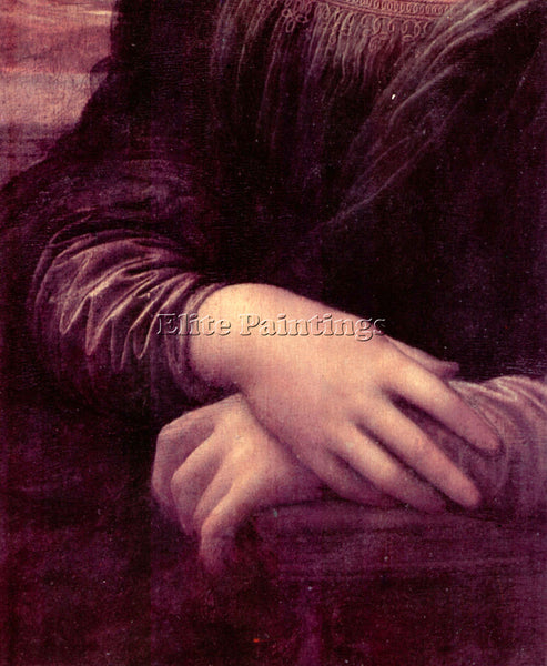LEONARDO DA VINCI MONA LISA DETAIL 2  ARTIST PAINTING REPRODUCTION HANDMADE OIL