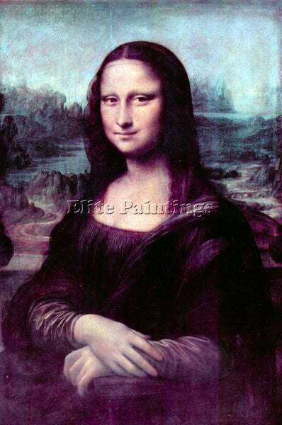 LEONARDO DA VINCI MONA LISA ARTIST PAINTING REPRODUCTION HANDMADE OIL CANVAS ART