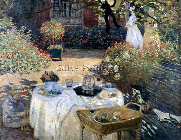 CLAUDE MONET LUNCHEON ARTIST PAINTING REPRODUCTION HANDMADE OIL CANVAS REPRO ART