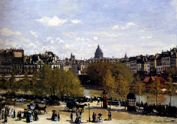 CLAUDE MONET THE QUAI DU LOUVRE PARIS ARTIST PAINTING REPRODUCTION HANDMADE OIL