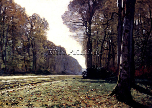 CLAUDE MONET THE ROAD TO CHAILLY ARTIST PAINTING REPRODUCTION HANDMADE OIL REPRO