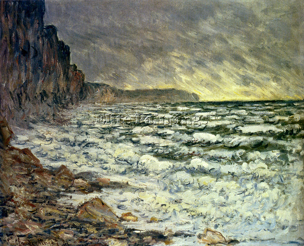CLAUDE MONET THE SEA AT FECAMP 1881 ARTIST PAINTING REPRODUCTION HANDMADE OIL
