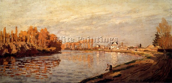 CLAUDE MONET THE SEINE AT ARGENTEUIL 1872 ARTIST PAINTING REPRODUCTION HANDMADE