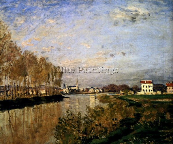 CLAUDE MONET THE SEINE AT ARGENTEUIL ARTIST PAINTING REPRODUCTION HANDMADE OIL