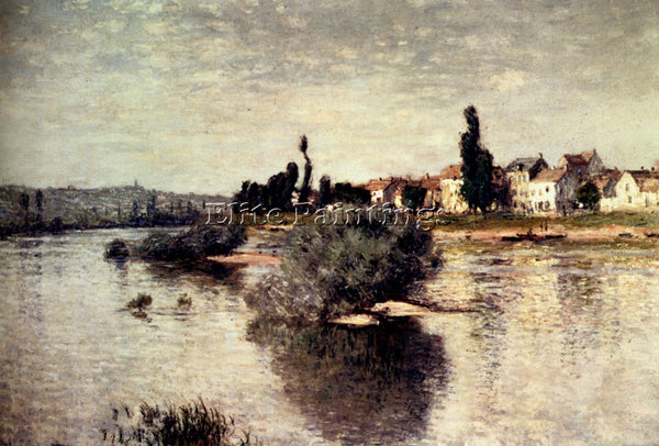 CLAUDE MONET THE SEINE AT LAVACOURT ARTIST PAINTING REPRODUCTION HANDMADE OIL