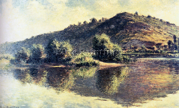 CLAUDE MONET THE SEINE AT PORT VILLEZ 1883 ARTIST PAINTING REPRODUCTION HANDMADE