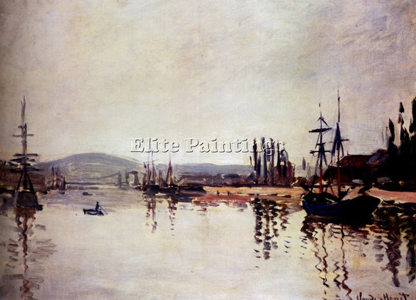 CLAUDE MONET THE SEINE BELOW ROUEN ARTIST PAINTING REPRODUCTION HANDMADE OIL ART