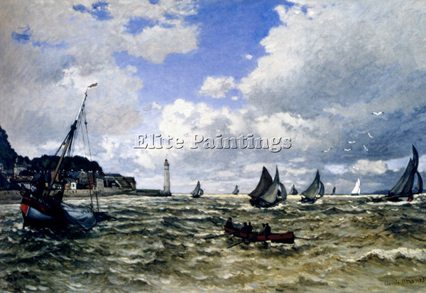 CLAUDE MONET THE SEINE ESTUARY AT HONFLUER ARTIST PAINTING REPRODUCTION HANDMADE