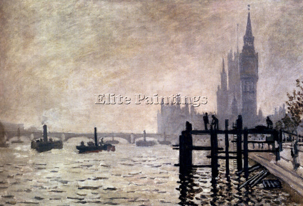 CLAUDE MONET THE THAMES AND THE HOUSES OF PARLIAMENT ARTIST PAINTING HANDMADE
