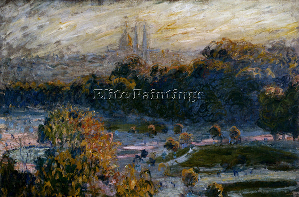 CLAUDE MONET TUILERIES ARTIST PAINTING REPRODUCTION HANDMADE CANVAS REPRO WALL