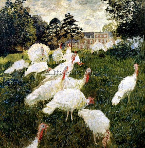 CLAUDE MONET THE TURKEYS ARTIST PAINTING REPRODUCTION HANDMADE CANVAS REPRO WALL