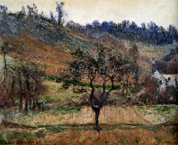 CLAUDE MONET THE VALLEY OF FALAISE ARTIST PAINTING REPRODUCTION HANDMADE OIL ART